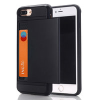 Étui rigide pour carte iPhone 7 Plus et 8 Plus, noir