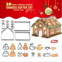 Koekjeshuis 18-delige uitsteekvormenset - Kerst Sinterklaas