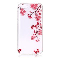 Coque TPU iPhone 7 8 SE 2020 Blossom - Transparent Rose Rouge