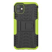 Étui hybride standard antichoc pour iPhone 11 - Vert Noir