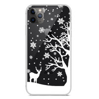 Housse d'hiver de protection contre la neige flexible de Noël iPhone 11 Pro Max - Transparent