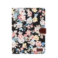 iPad Pro 11 pouces 2018 Housse Hardcase Flower Fabric Coloré - Noir
