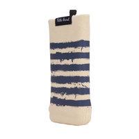Lecteur MP3 universel pour pochette en tricot pour téléphone portable - rayures bleues et brunes