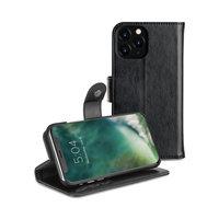 Etui Portefeuille Xqisit Eman Housse de Protection Etui en Cuir pour iPhone 11 Pro - Noir