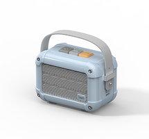 Radio haut-parleur Bluetooth sans fil Divoom Macchiato - Bleu clair
