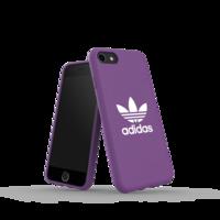 Housse en toile moulée adidas pour iPhone 6 6s 7 8 SE 2020 - Violet