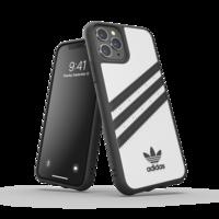 Étui de protection à rayures moulées adidas pour iPhone 11 Pro - Blanc Noir