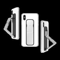 CLCKR smartphone universel avec bande brillante et poignée métallique brillant - Argent