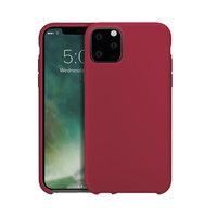Housse de protection en silicone Xqisit pour iPhone 11 Pro - Rouge