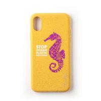 Étui de protection biodégradable Wilma Stop en plastique Seahorse iPhone XR - Jaune