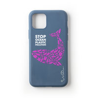 Wilma Stop Housse en plastique Biodégradable Housse de protection Whale iPhone 11 - Bleu foncé