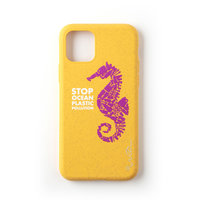 Wilma Stop étui en plastique étui de protection biodégradable Seahorse iPhone 11 - jaune