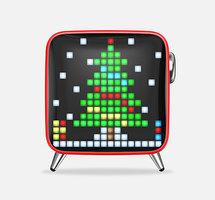 Divoom Tivoo haut-parleur max Bluetooth LED pixel art - Rouge