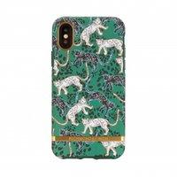 Coque iPhone X XS Richmond & Finch Leopard Panther Wild Housse de protection - Or Vert Noir Blanc