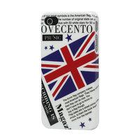 Ovecento - Étui pour journal anglais avec drapeau et drapeau anglais britannique pour iPhone 4 4s
