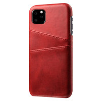 Coque iPhone 11 Pro Max Portefeuille Portefeuille en Cuir - Protection Rouge