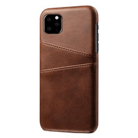 Coque iPhone 11 Pro Max Portefeuille Portefeuille en Cuir - Protection Marron