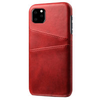 Coque iPhone 11 Portefeuille Portefeuille en Cuir - Protection Rouge