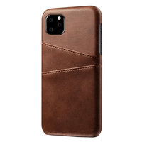 Étui portefeuille en cuir pour iPhone 11 - Protection marron