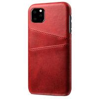 Étui portefeuille en cuir pour iPhone 11 Pro - Protection rouge