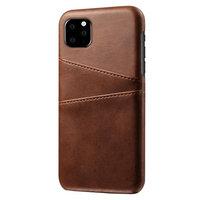 Coque iPhone 11 Pro Portefeuille Portefeuille en Cuir - Protection Marron