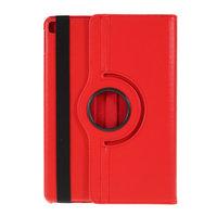 Coque iPad 10.2 pouces en cuir texturé Litchi avec coque - Standard de protection rouge