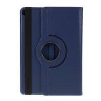 Coque iPad 10.2 pouces en cuir texturé Litchi avec coque - Standard de protection bleu foncé