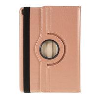 Étui iPad 10.2 pouces en cuir texturé Litchi avec housse - Norme de protection en or rose