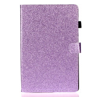 Housse Etui Shiny Flash Glitter en cuir PU pour iPad 10.2 pouces - Violet