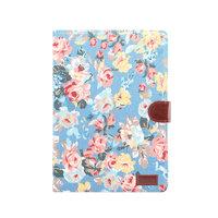 Cover Case Flowerprint Motif de tissu de fleur en cuir artificiel iPad 10.2 pouces - Bleu