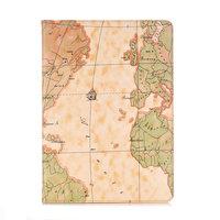 Housse Etui En Cuir Artificiel Motif Carte du Monde pour iPad 10.2 pouces - Marron Clair