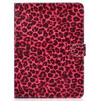 Housse Etui Rouge Imprimé Léopard Faux Cuir iPad 10,2, iPad Pro 10,5 et iPad Air 3 10,5 pouces