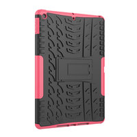 Béquille de protection de profil de bande en plastique TPU iPad 10,2 pouces - Rose
