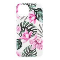 Coque Coque Fleurs Feuilles Fleurs Nature TPU Flexible Shock Absorbing pour iPhone 11 - Rose