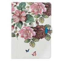 Portefeuille Etui Faux Cuir Floral Nature iPad Pro 10,5 pouces iPad Air 3 10,5 pouces iPad 10,2 pouces - Rose