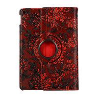 Grapes Design Etui Housse Standard Rotation 360 Degrés Similicuir pour iPad 10.2 Pouces - Rouge