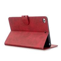 Portefeuille Etui Portefeuille En Similicuir avec Support pour iPad mini 1 2 3 4 5 - 7,9 pouces - Rouge