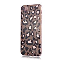 Coque iPhone 7 8 SE 2020 en TPU Motif Léopard - Holographique Brillante