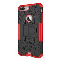 Coque de protection antichoc pour iPhone 7 Plus 8 Plus - Rouge