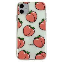 Coque en TPU iPhone 11 Peaches - Transparent Rose Flexible