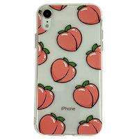 Coque en TPU iPhone XR Peaches - Rose Transparente Flexible