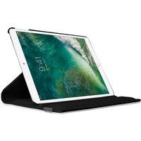 Just in Case Housse en cuir rotative à 360 degrés pour iPad Pro 12,9 pouces 2017 - Noir
