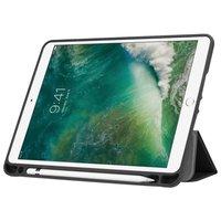 Just in Case Housse en cuir Smart Tri-Fold pour iPad 9,7 pouces 2017 2018 - Apple Pencil Compartment