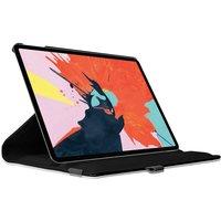 Just in Case Housse rotative à 360 degrés en cuir pour iPad Pro 12,9 pouces 2018 Hoes - Protection noire