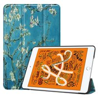 Just in Case Leather Blossom iPad Mini 5 2019 Sleeve Smart Tri-Fold Case - Housse de protection