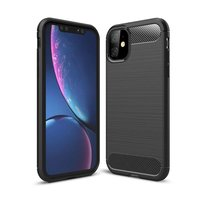 Coque iPhone 11 en TPU Carbone de Protection Just in Case - Noire