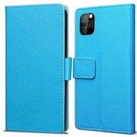 Just in Case Portefeuille en cuir Wallet Wallet iPhone 11 Pro Cover - Blue Cards Bills