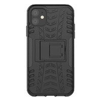 Étui pour iPhone 11 avec profil de pneu en polycarbonate TPU hybride robuste Just in Case - Noir Standard