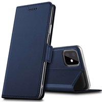 Étui portefeuille en cuir Just in Case pour iPhone 11 Pro Max - Bleu