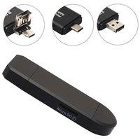 Lecteur de carte micro USB USB-C MicroSD - Noir